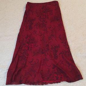 Dresses & Skirts - Red print maxi skirt
